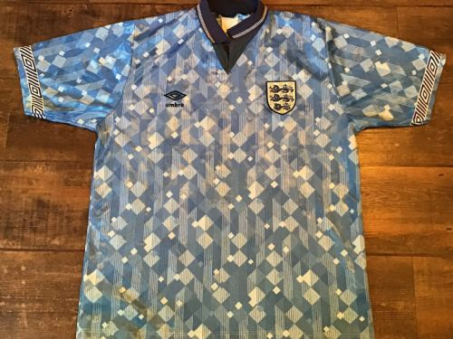 1990 1992 England Away Football Shirt Large